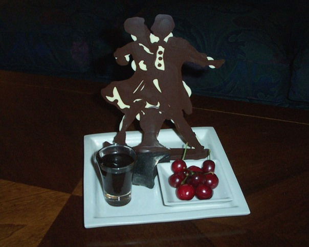 Tango dancers in chocolate  at the Four Seasons Buenos Aires