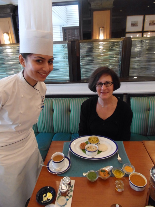 Oberoi Amarvilas in Agra India - an Indian breakfast