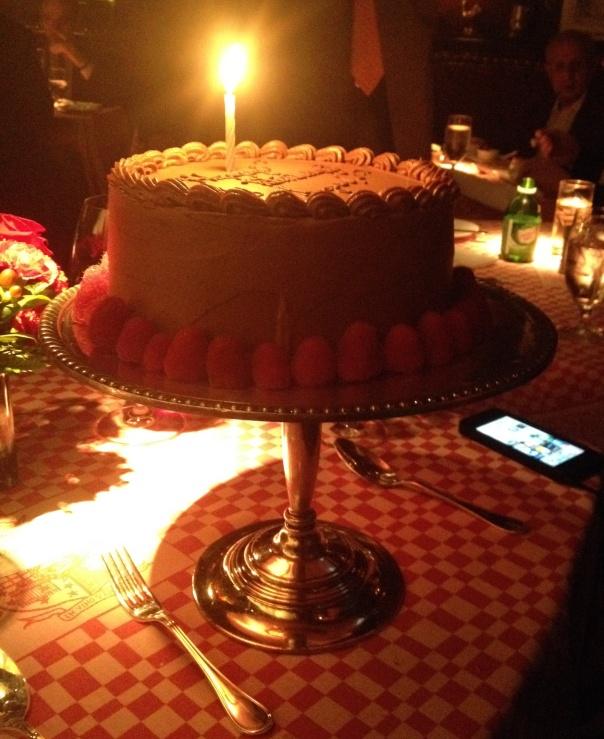 21 Club in New York City - A huge birthday cake!
