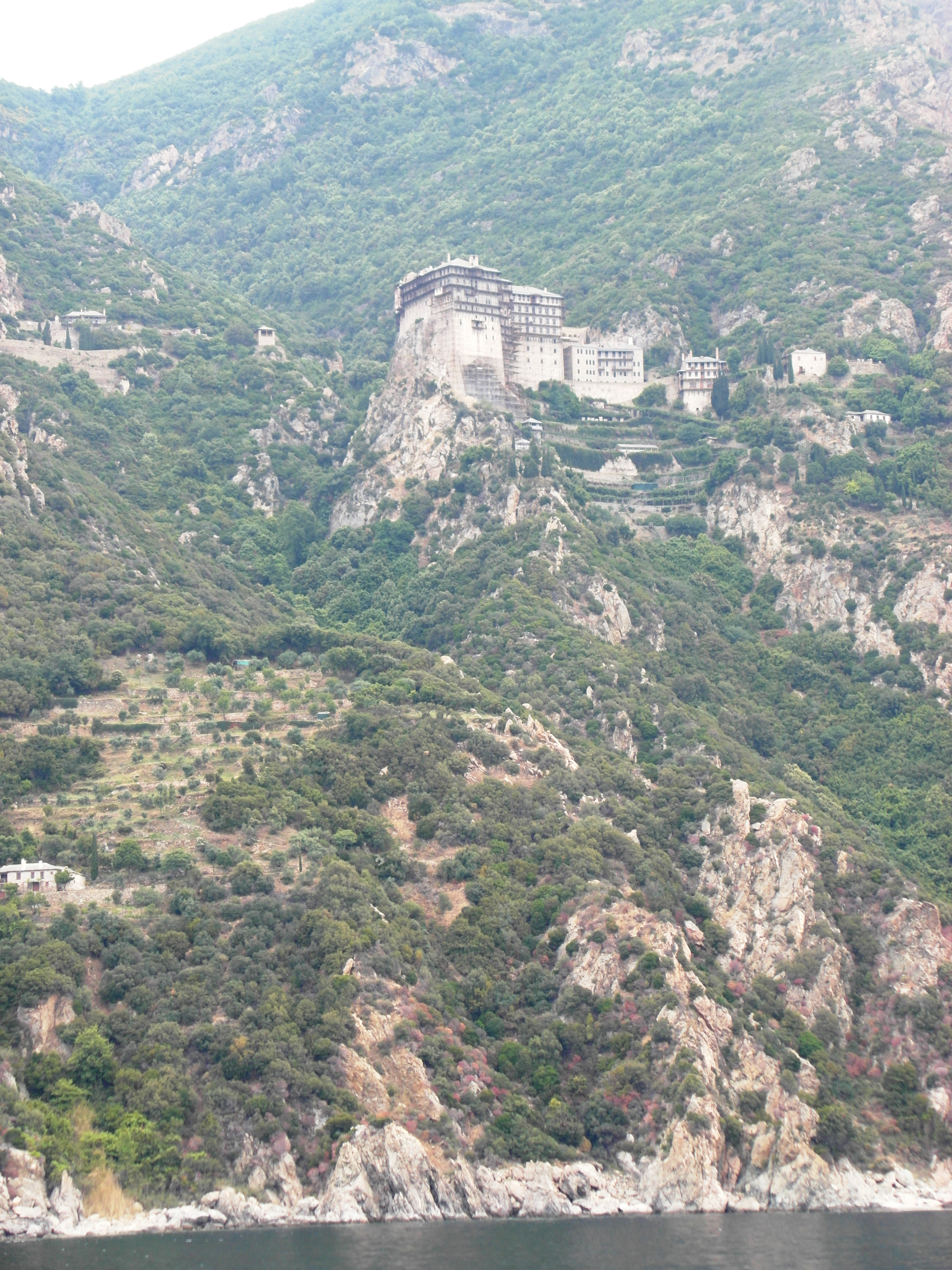 Mount Athos : One of the monasteries